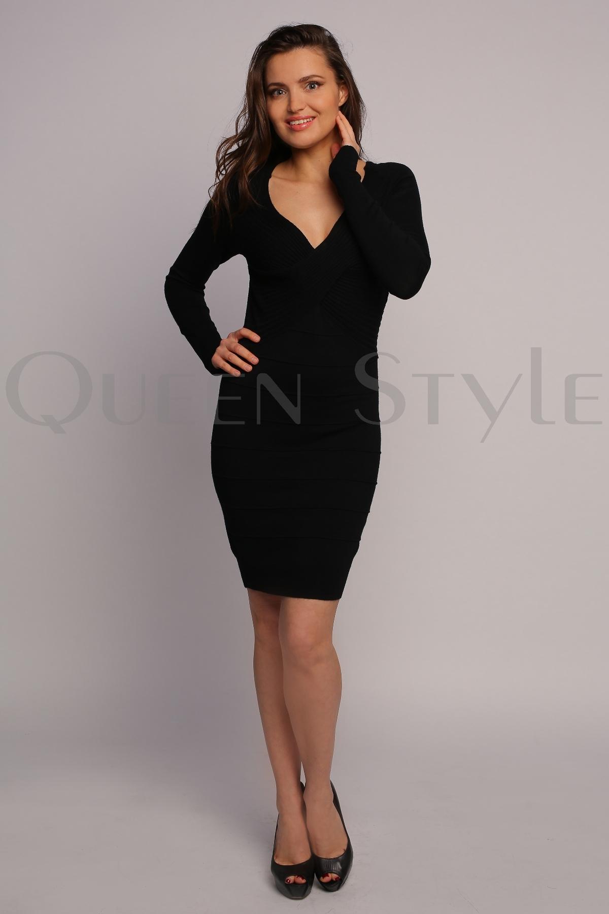 3454765b7c0 Черное трикотажное платье 31004 – купить оптом в Москве по низким ...