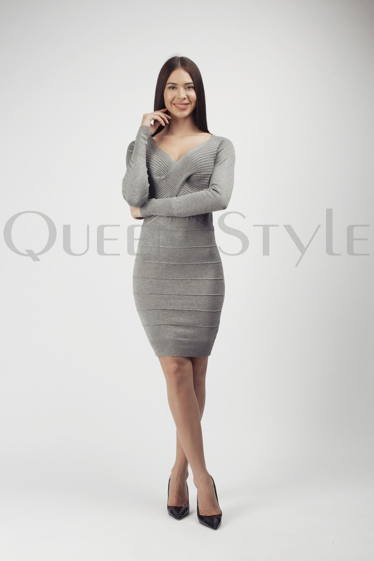 05aaf618dc9 Трикотажные платья оптом – купить платья из трикотажа в Москве по низким  ценам от производителя в интернет-магазине стильной женской одежды Queen  Style